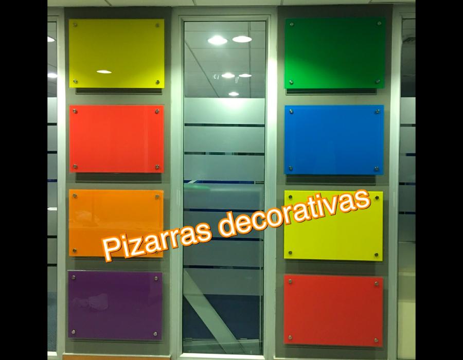 pizarras de vidrio de colores