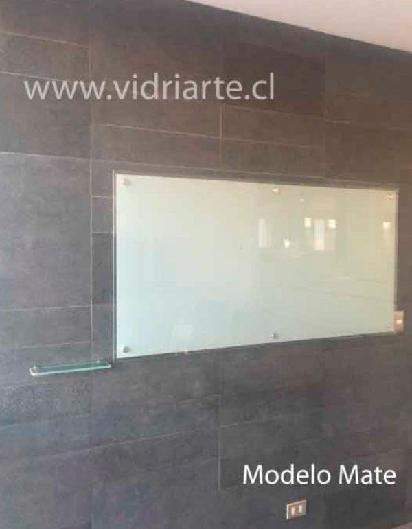 pizarra de vidrio a pared