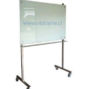 pizarra de vidrio con atril